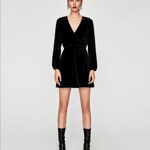 Zara Velvet Wrap Dress